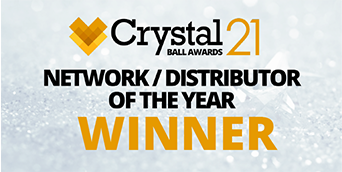 WINNER of Network / Distributor Partner 2021 at the CrystalBall21